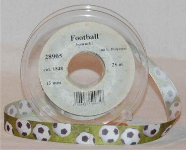 Football Textilband 15 mm, 25 m