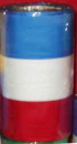 Ribbon, blue / white / red, 75 mm