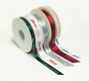 Opening textile ribbons 100 mm wide with print